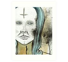 Anti-Christ Mona Lisa  Art Print