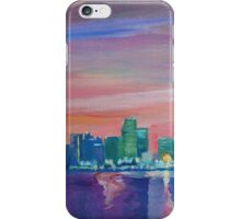Miami Skyline Silhouette at Sunset, Florida, USA  iPhone Case/Skin