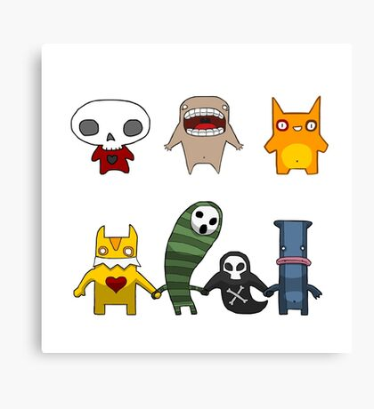 Monster Menagerie Canvas Print