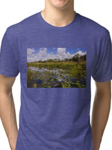 Peaceful marsh Tri-blend T-Shirt