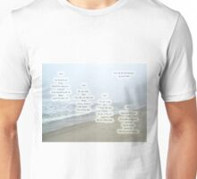Music Of The Wind And Waves Poem On Ocean Background Unisex T-Shirt