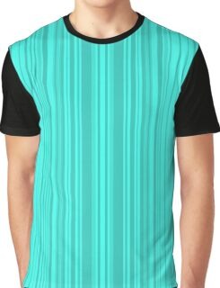 Bright turquoise stripes . Graphic T-Shirt