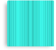 Bright turquoise stripes . Canvas Print