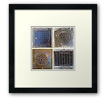 Heavy Metal ~ Squares Framed Print