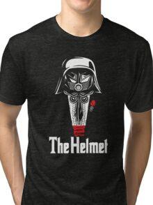 The Helmet-Godfather of the Dark Schwartz Tri-blend T-Shirt