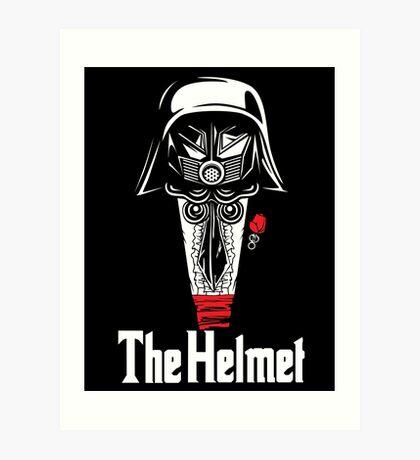 The Helmet-Godfather of the Dark Schwartz Art Print