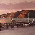 Patonga Wharf Sunrise, NSW by Michael Jones