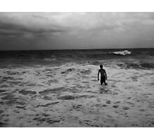 One Against The Waves Photographic Print