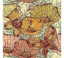 Butterflies retro Photographic Print