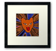 The Laughing Fox - pillow & tote Framed Print