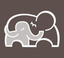 Elephant hugs  Baby Tee