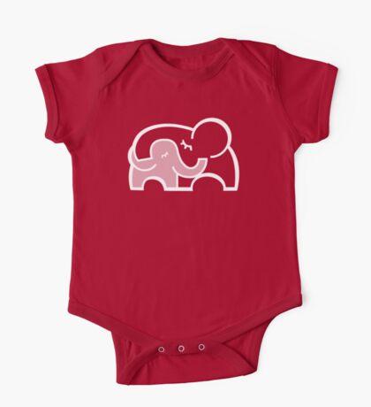 Elephant hugs  One Piece - Short Sleeve