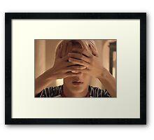 BTS Wings jin&V Framed Print