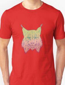 Yellow/pink Lynx Unisex T-Shirt
