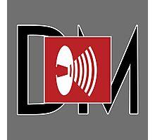 Depeche Mode - Music For The Masses Logo 4 Black DM Photographic Print