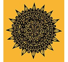 Black Star Mandala Design Photographic Print