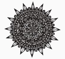 Black Star Mandala Design Kids Clothes