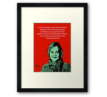Annie Laurie Gaylor Christmas Framed Print