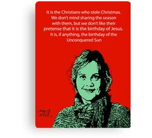 Annie Laurie Gaylor Christmas Canvas Print
