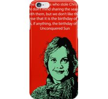 Annie Laurie Gaylor Christmas iPhone Case/Skin