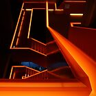 Orange stairs by Lindie Allen
