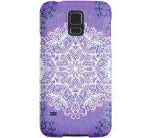 Violet snowflake Samsung Galaxy Case/Skin