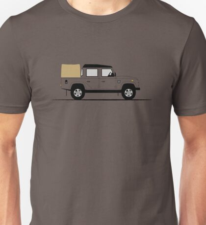 A Graphical Interpretation of the Defender 110 Double Cab Pick Up Unisex T-Shirt
