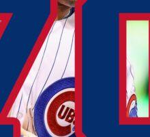 Javier Baez Chicago Cubs Number 70 Sticker