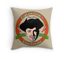Captain Cook's Chili P Throw Pillow