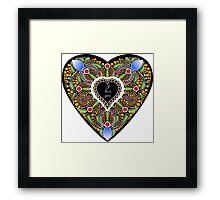 I love you (black heart) Framed Print