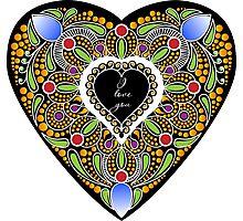 I love you (black heart) Photographic Print