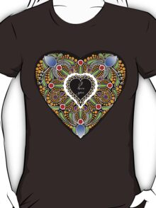 I love you (black heart) T-Shirt