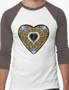 I love you (black heart) Men's Baseball ¾ T-Shirt