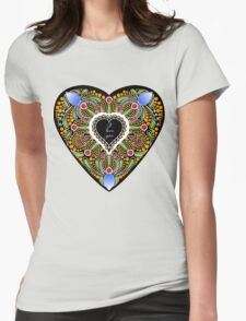 I love you (black heart) Womens Fitted T-Shirt
