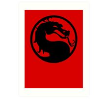 Mortal Dragon Art Print