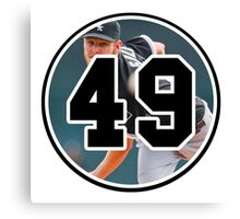 Chris Sale Chicago White Sox Number 49 Canvas Print