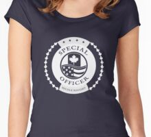 Nicole Haught badge division Women's Fitted Scoop T-Shirt