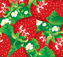Background of strawberry by maystra