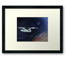 Starship Enterprise - from  Star Trek (TOS) Framed Print