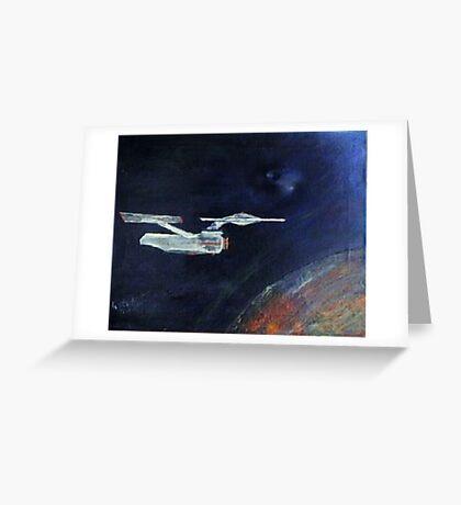 Starship Enterprise - from  Star Trek (TOS) Greeting Card