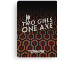 Two girls one axe Canvas Print