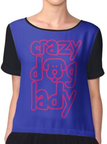 Funny Crazy Dog Lady Chiffon Top
