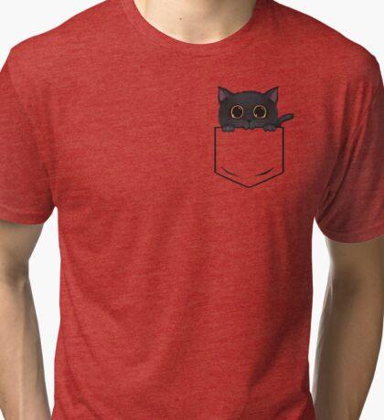 Pocket Meow Tri-blend T-Shirt