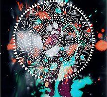 Galaxy Mandala Sun Design by Hazel Partridge