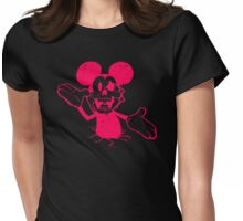 Dead Mouse Parody Womens Fitted T-Shirt