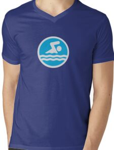 Swimming Mens V-Neck T-Shirt