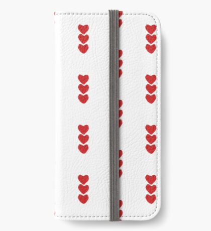 Red Love Hearts Knitted For Your Valentine iPhone Wallet/Case/Skin