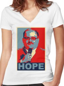 KEN BONE - OUR ONLY HOPE Women's Fitted V-Neck T-Shirt