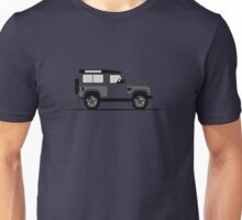 A Graphical Interpretation of the Defender 90 Station Wagon Kahn Design Wide Track Unisex T-Shirt