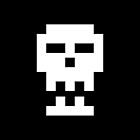 Skull - white - with jaw by playwell